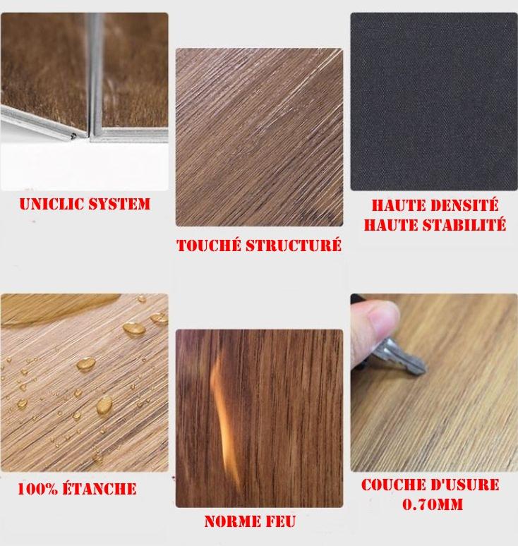 lame pvc clipsable rigide couche d 39 usure 24 le m2 destockpro discount. Black Bedroom Furniture Sets. Home Design Ideas